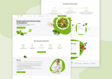 Landing page for nutritionist
