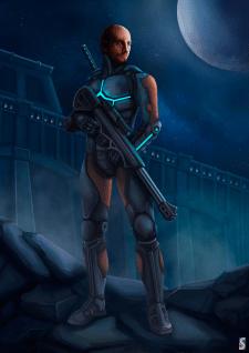 Sci-fi Hero. Character Concept Art.