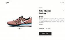 Concept online store Nike