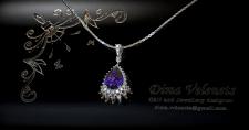Pendant with gemstones