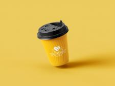 Стаканчик с кофе логотип
