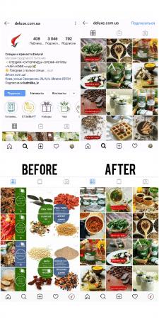 Розробка нової візуальної розкладки в Instagram