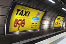 Дизайн рекламы в метро для службы такси в Киеве