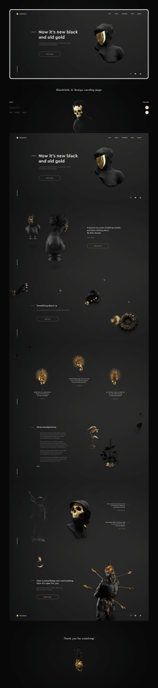 BlackGold. UI Design