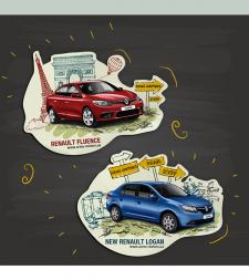 Магнит для компании Renault