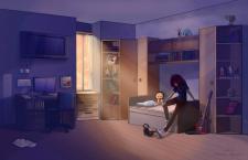 аниме комната