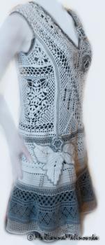 Летнее кружевное платье