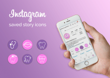 Instagram saved story icons