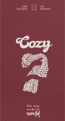 menu for Cozy restaurant