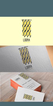 Логотип для салона штор LOONA