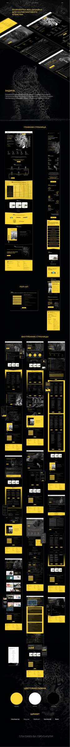 Веб-дизайн для сайта маркетингового агенства