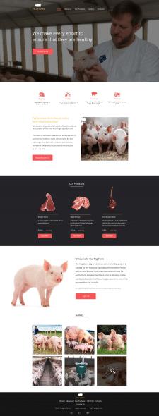 Landing Page для свинофермы