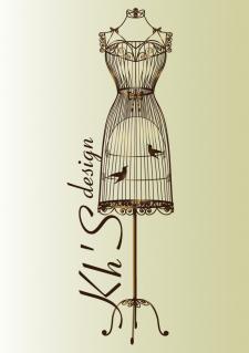 Логотип Kh'S design, вектор