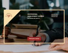 Дизайн шаблона для сайта юридических курсов