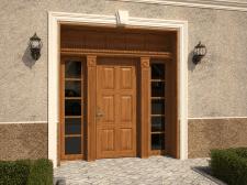 Входная дверь с фальш фрамугой