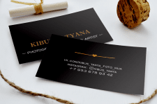 Business card Black