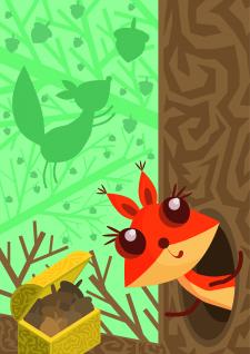 Білка ілюстрація для дітей