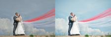 Ретушь свадебных фото.До и после 3