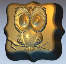"""Модель печенья """"Мудрая Сова"""" для 3D-печати"""