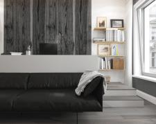 Nordic Island Living Room