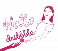 Hello dribbble concept