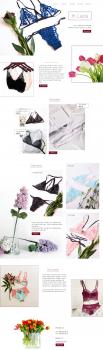 Сайт для магазина женского белья
