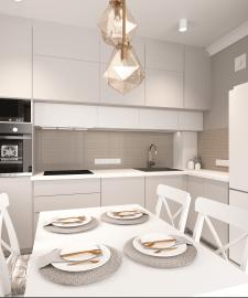Дизайн проект кухни,3д модел-ние и виз-ция.