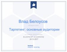 Сертификация Facebook - Таргетинг: осн. аудитории