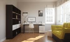 Визуализация яркой солнечной комнаты