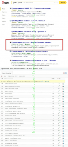 КУПИТЬ ДИВАН - ТОП 1 Yandex (Москва)