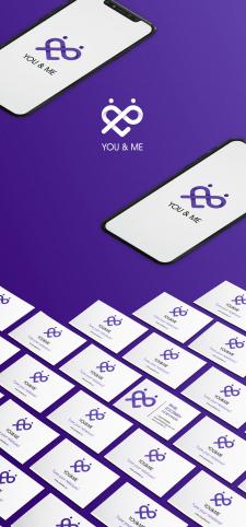 Дизайн лого для сайта знакомств YOU&ME