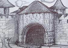 Графика старый город