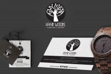 Дизайн логотипа, визитки и бирки для Hand Woods