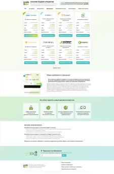 Дизайн сайта кредитных предложений