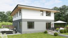 Візуалізація блокованого будинку на дві сім'ї