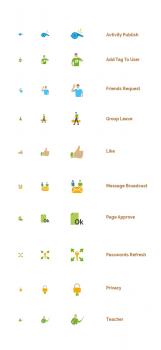 Плоские иконки для соц. сети