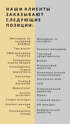 Наши клиенты заказывают следующие позиции