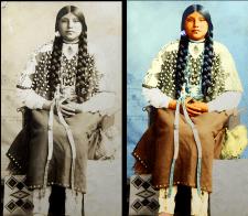 Индейская девушка- реконструкция фото