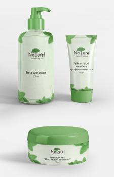 Дизайн этикеток для натуральной продукции Naturel