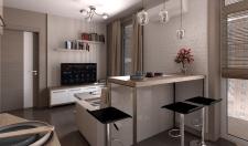 Дизайн кухни студии 2-х комнатной квартиры