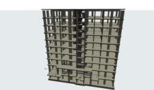 Розрахункова схема каркасної будівлі