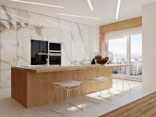 3D моделирование и визуализация интерьера (кухня)