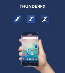 """иконка для приложения """"Thunderfy"""""""