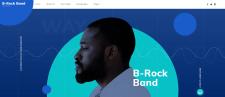 B Rock Band Web Template