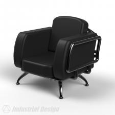 Кресло на металлокаркасе.