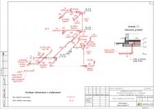 Аксонометрия канализации коттеджа