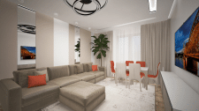 Дизайн проект квартиры 100 КВ.м
