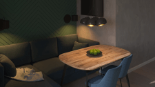 Visualization of the kitchen-living room
