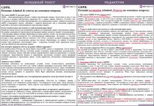 Корректура доклада международной компании