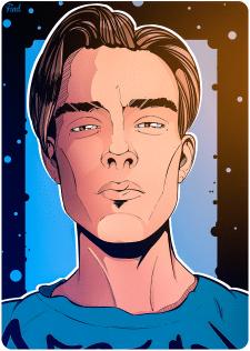 Портрет  в комикс стили